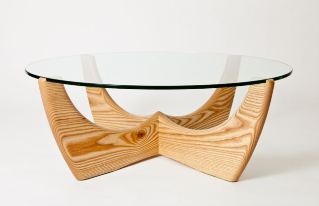 Coffee table in American ash by Peter Walker Furniture, Perth