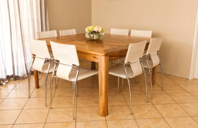 Extendable Dining table in Marri by Peter Walker Furniture, Perth